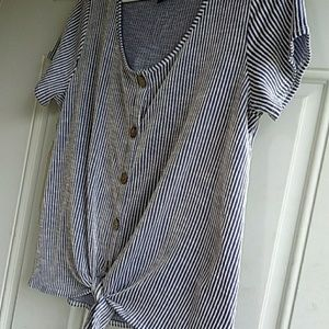 Anthropologie W5 front tie shirt NWOT